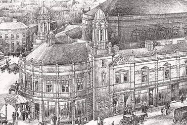 Original artists impression of the Victoria Theatre.